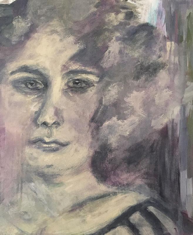 Frau Ölbild