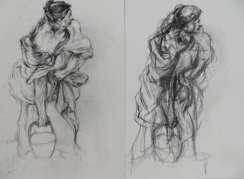 Skizzen Mensch Nicole Sacher