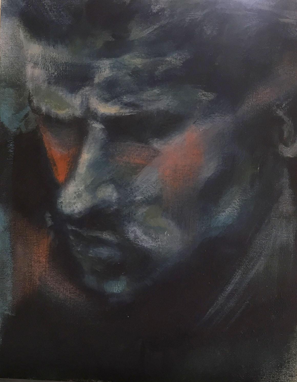 Gesicht Mann Ölmalerei