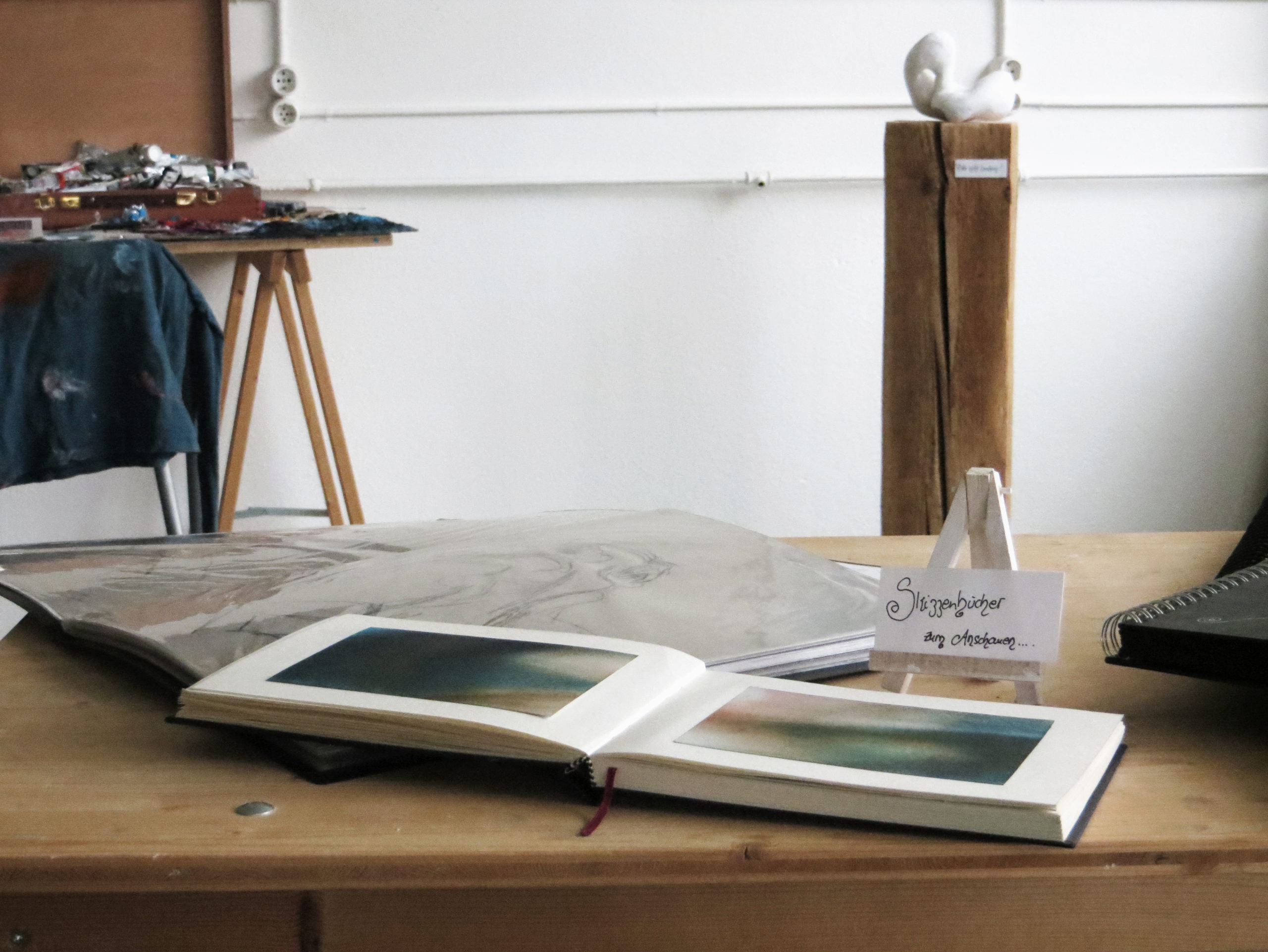 Ausstellung Kunst Notizbuch