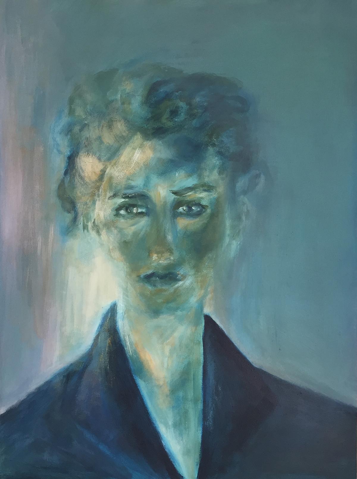 Ölmalerei Portrait Nicole Sacher