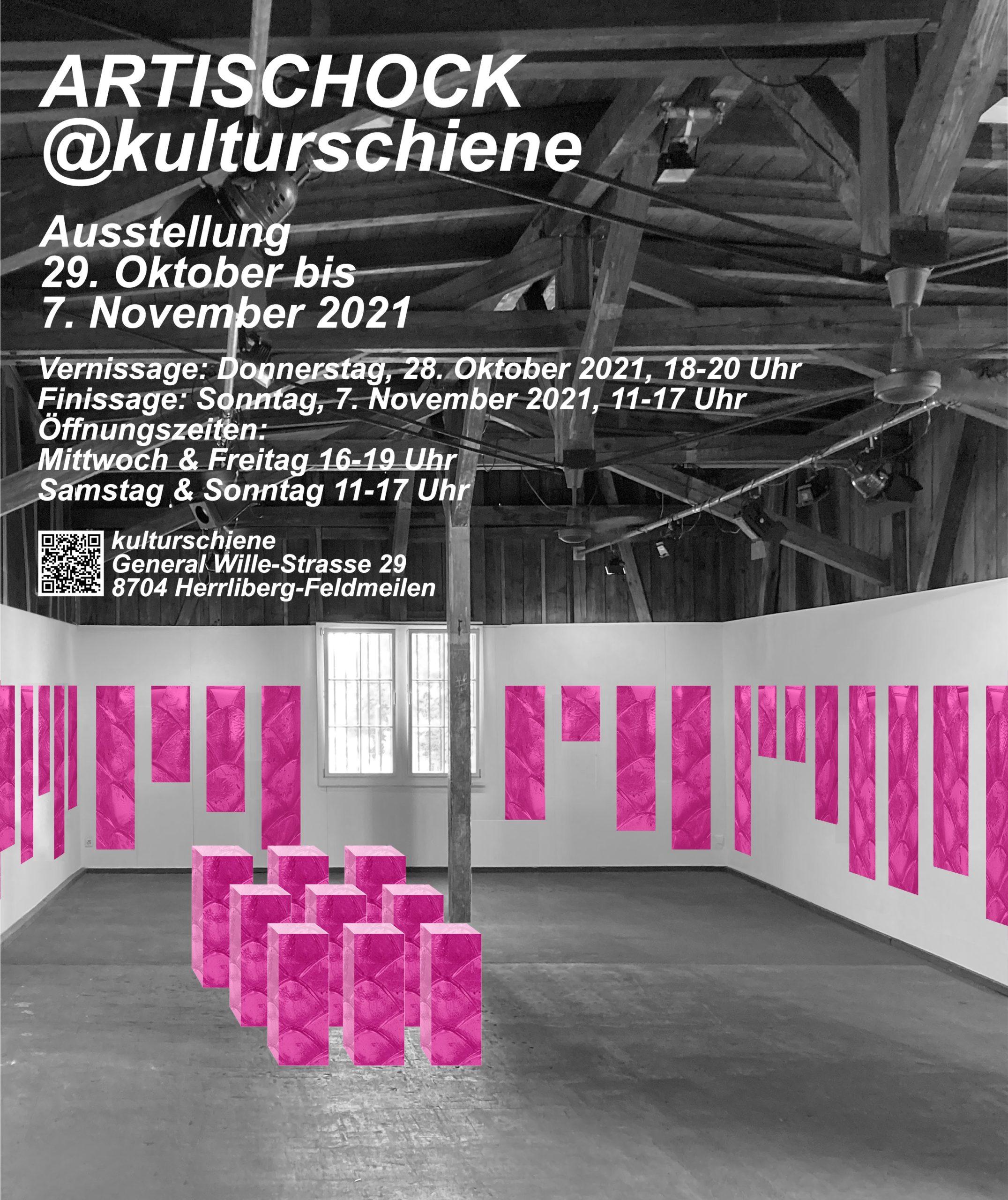 Einladung Flyer Ausstellung Artischocke